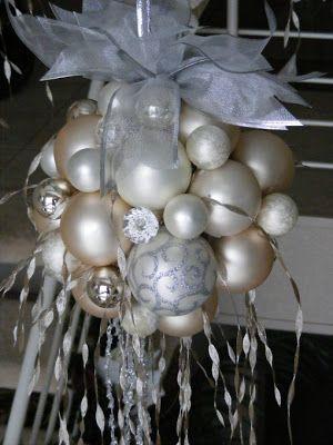 Kreatív Ötletek: Karácsony: Óriás gömb karácsonyfa díszekből