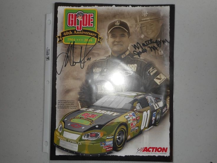 """Joe Nemechek Autographed 8x10 """"U.S. Army"""" Photo-Pictured with His Mother"""