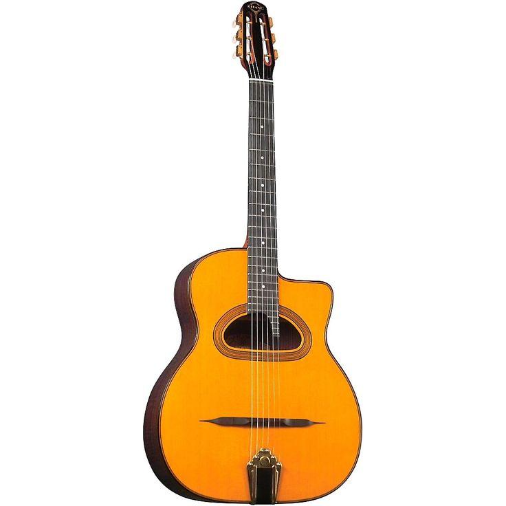 Gitane D-500 Grande Bouche Gypsy Jazz Acoustic Guitar Natural
