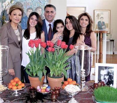 Reza pahlavi with family persian food pinterest for Shah bano farah pahlavi