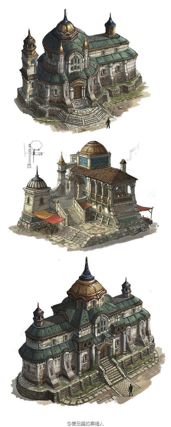 3 City Buildings in Castle Basi
