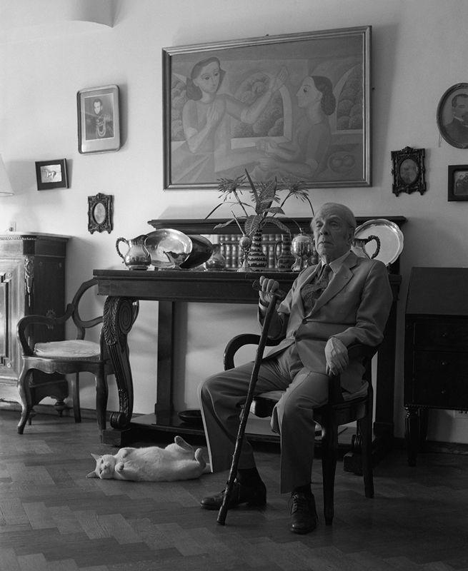 Borges todo el año: Jorge Luis Borges: Beppo - Foto: Borges y Beppo, por Julie Méndez Ezcurra