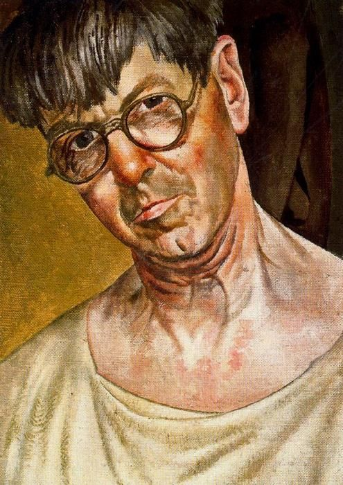 Stanley Spencer I like the deep colours and shadows in this painting. The colours give a dark and gloomy feel making him look unhappy or ill.