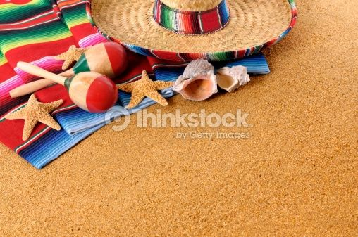 Stock Photo : Mexican beach background
