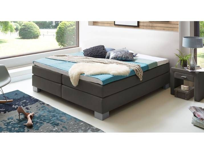 Boxspringliege Mit Topper Mittelweich 140x200 Cm Violett Puebla Box Spring Bed Without Headboard In 2020 Box Spring Bed Bed Springs Bed Without Headboard