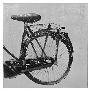 Mica Oleo con pintura de bicicleta color negra 60X60 cm