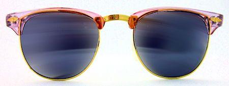 Melrose Mirrored Clubmaster Sunglasses - 220 Magenta