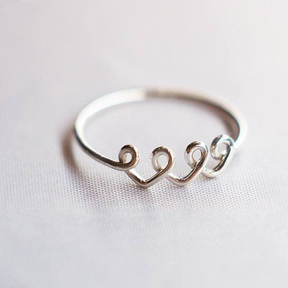Hey, I found this really awesome Etsy listing at https://www.etsy.com/listing/258270886/3-best-friend-ring-3-sister-ring