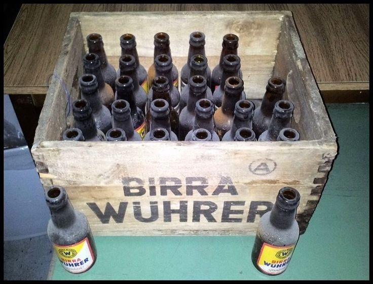 Cassa di legno BIRRA WUHRER con 30 bottiglie di birra impolverate | eBay
