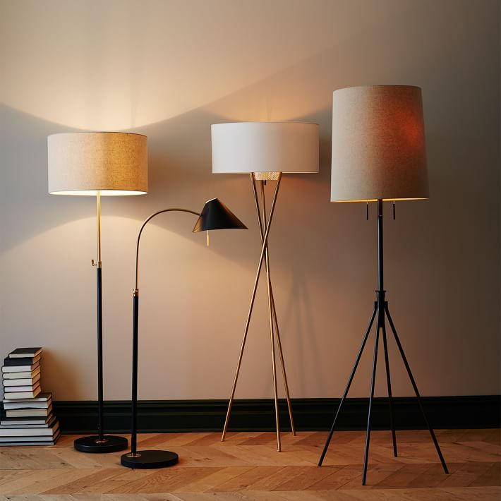West Elms Contemporary Floor Lamps Add A Dramatic Touch To Your Living Room Bedroom Office Or Entry Choose From Industrial Modern Classic Styles