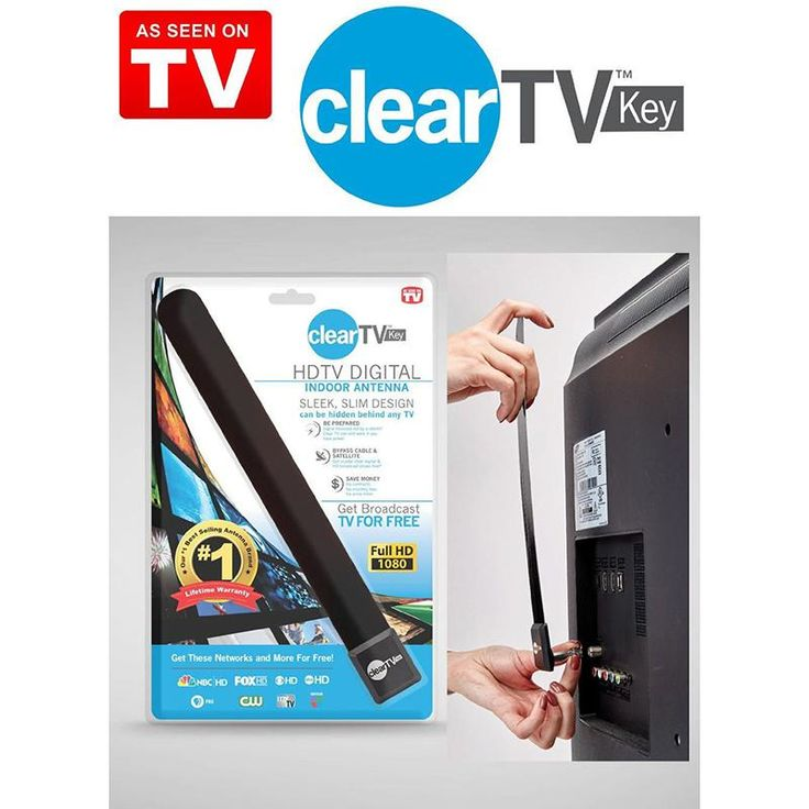 TOP Clear TV Key HDTV FREE TV Digital Indoor Antenna Ditch Cable As Seen on TV -- BuyinCoins.com
