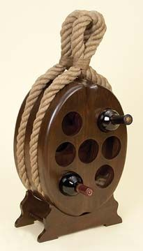 """WINE RACK 30""""H, 14""""W Nautical Gifts And Decor   Nautical decor   Yacht models   Nautical themes   Handcrafted Ship Models"""