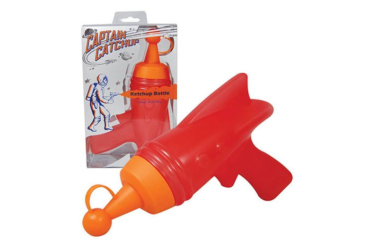 Must have for camping, BBQs, party time  Captain Catchup - Retro Raygun Condiment Dispensers