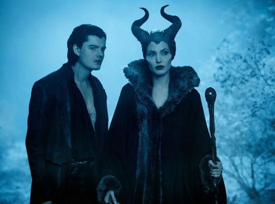 Angelina Jolie and Sam Riley, Maleficent, 2014