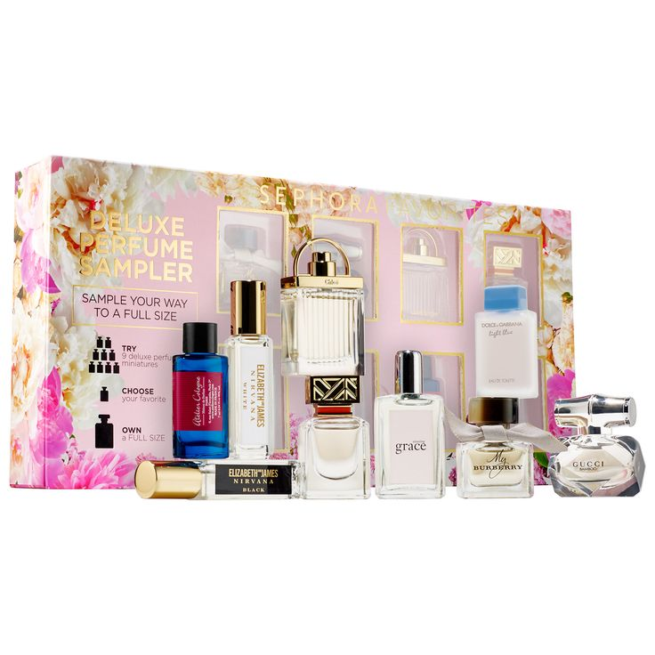 Shop Sephora Favorites' Deluxe Perfume Sampler at Sephora. This box of nine fragrance samples has a certificate for a full-size of your favorite.