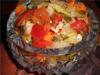 Азербайджанский салатик «Хeфтябечяр»