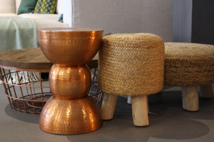 Diverse leuke poufjes/ krukjes en tafels van #By-Boo #dutchbone | Room108 eindhoven