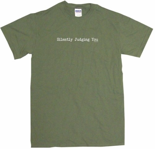 $13.72 Silently Judging You Mens Tee Shirt XL-Olive