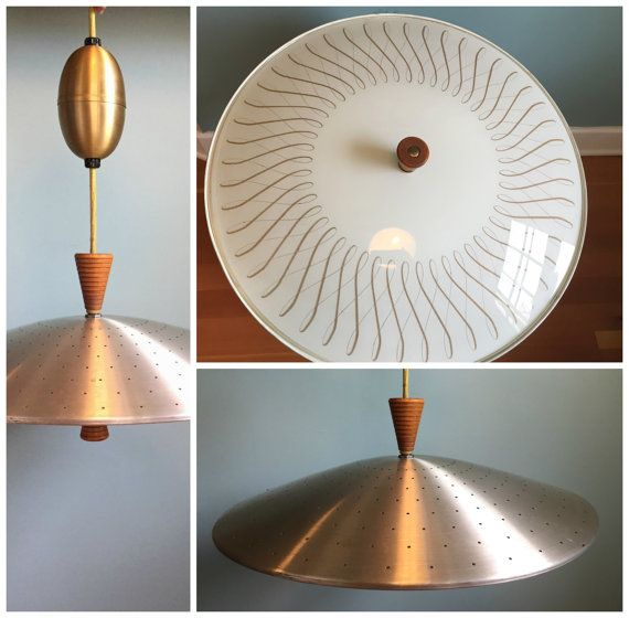 Retro Mid Century Modern Retractable Light Fixture by TangerineFig