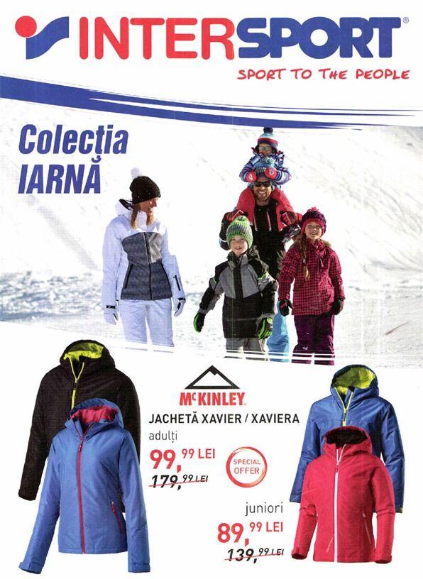 Catalog Intersport Colectia Iarna 2017 - 2018! Oferte: jacheta Xavier / Xaviera pentru adulti 99,99 lei; Mc Kinley pantaloni Sergios barbati 499,99 lei