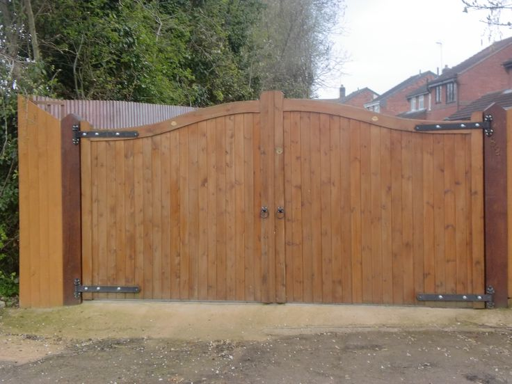 Wooden security gates