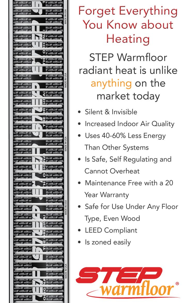 STEP Warmfloor is the smarter choice in radiant heat