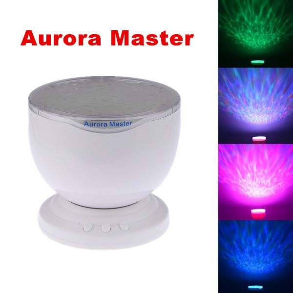 BUY 2 Aurora Master 7 Colorful LED Light Lamp Ocean Wave Night Star Projector with Speaker for Kids EACH COST US $19.85