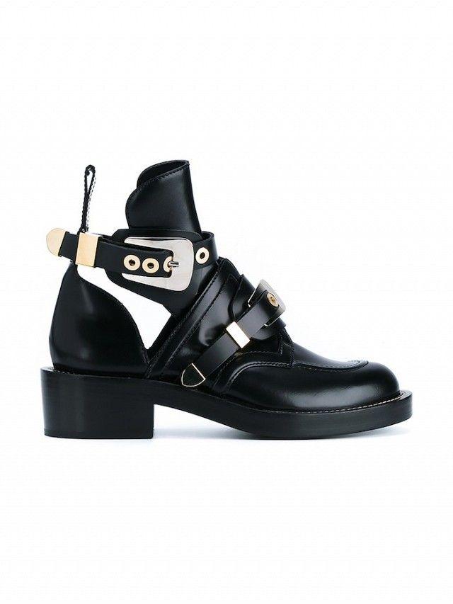Balenciaga buckle boots.