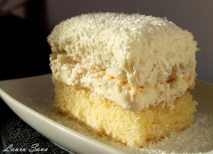 """Prajitura Raffaello este una dintre cele mai delicioase prajituri din lume!!!!!Pare ca a fost special creata pentru iubitorii de nuca de cocos si ciocolata alba  Creatoarea ei este o """"bucatareasa"""" minunata, pe care o cheama tot Laura  , si pe care o pup dulce tare pentru impartasirea aceastei dulci minunatii!!!!!  Ingredientecrema: – …"""