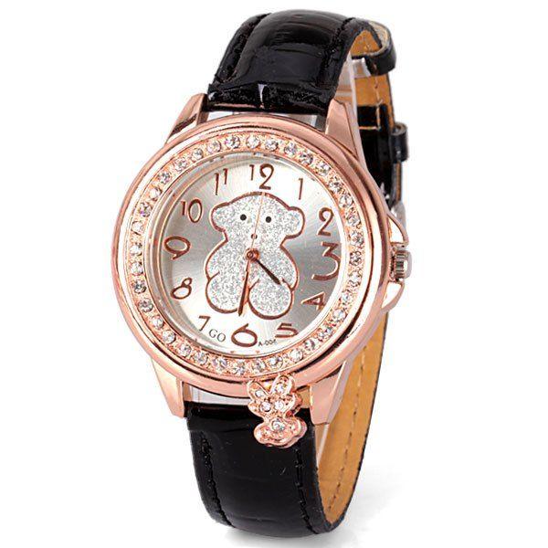 Hermoso reloj con diseño osito Tous, color dorado y negro. VENDIDO $7.990