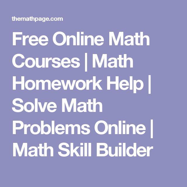 Free Algebra Homework Help Math