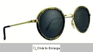 LP Round Metal Sunglasses - 459 Olive