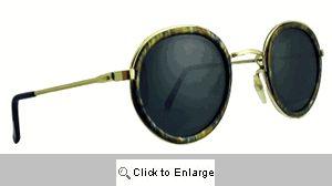 LP Round Metal Sunglasses - 459 Olive