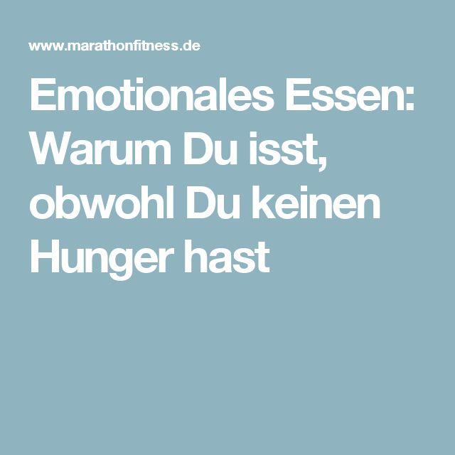 Emotionales Essen: Warum Du isst, obwohl Du keinen Hunger hast