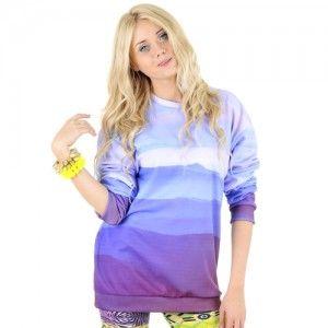 Bluza Oversize Hipster z nadrukiem GÓRY unisex