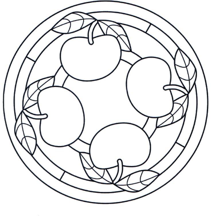 Mandala frutta mele