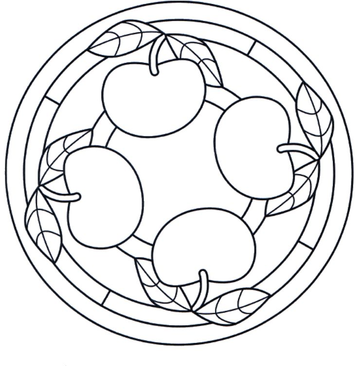 Apple Mandala Coloring Pages