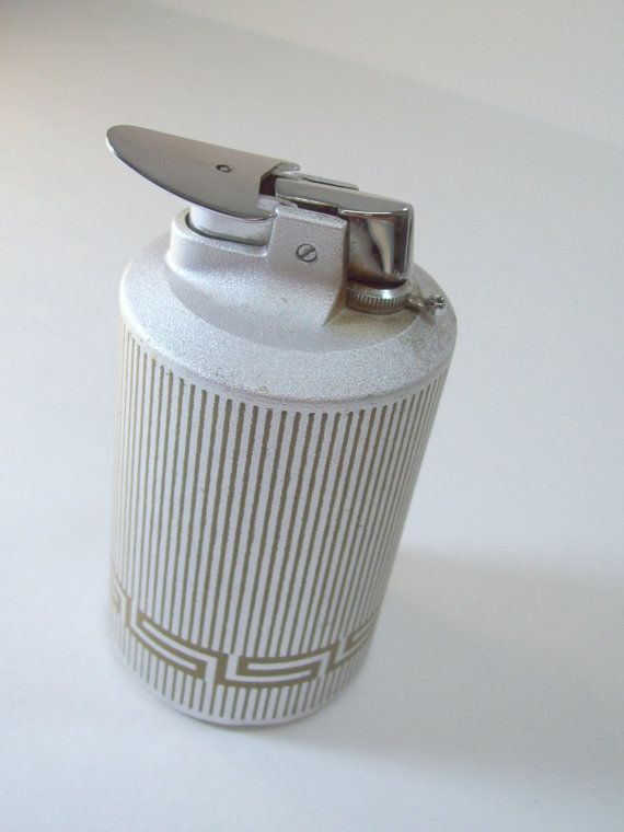 Vintage 1960's Ronson Lighter Silver w/ Gold Roman by RCandDUKE