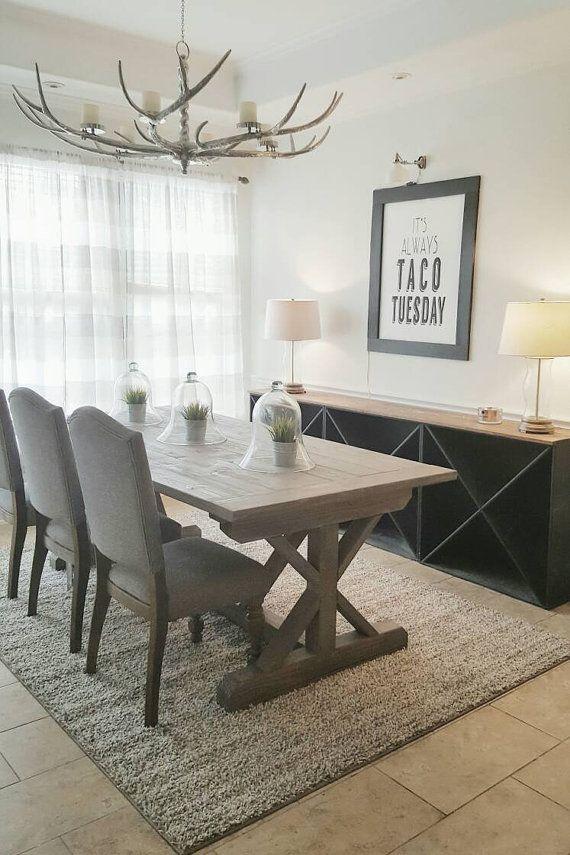 X Style Farmhouse Trestle Dining Table