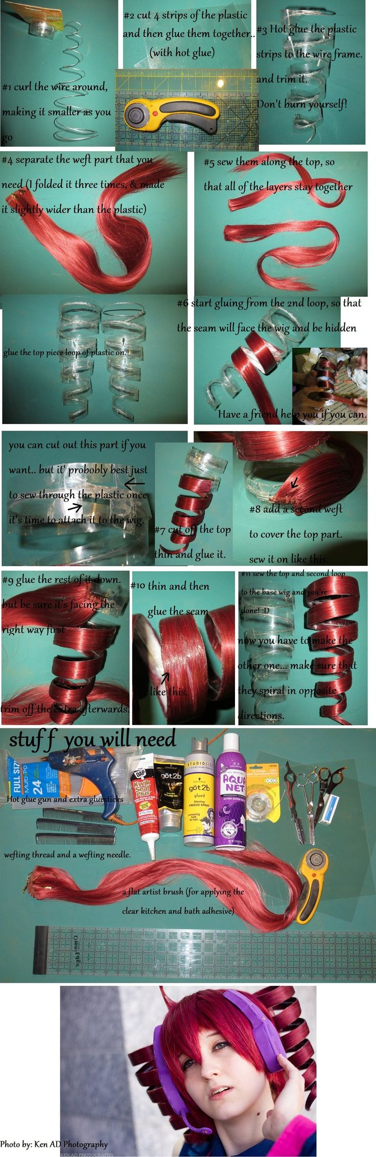 Kasane Teto~ Drill Curl Tutorial by AerisCetraMagic.deviantart.com on @deviantART