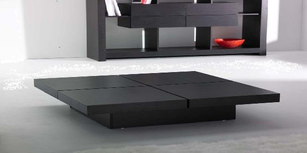 Four Cubes Contemporary Coffee Table