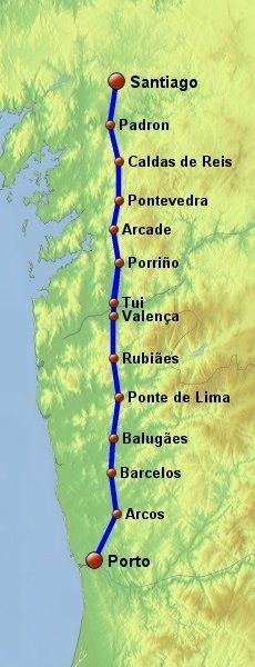 Porto (Portugal) - Santiago de Compostela (Galicia, Spain)