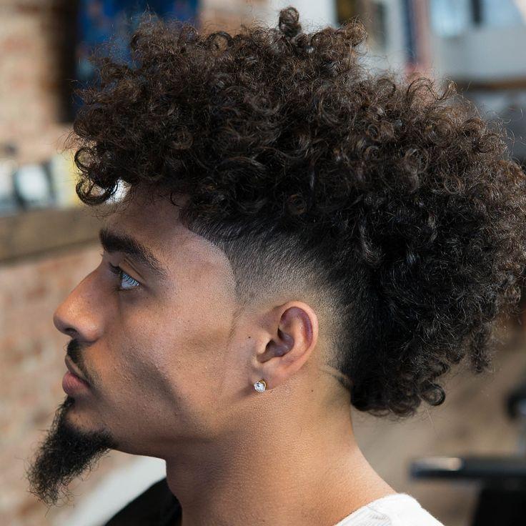 Burst fade mohawk for long curly hair #menshaircuts #fadehaircuts #fade #burstfade #mohawk #curlymohawk #burstfademohawk