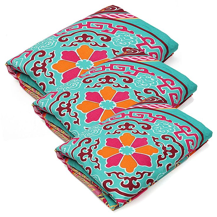 4Pcs Oriental Mandala Polyester Single Double Queen Size Bedding Pillowcases Quilt Duvet Cover Set at Banggood