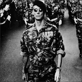 "Jean Martin as paratrooper Col. Mathieu, in Gillo Pontecorvo's ""The Battle of Algiers,"" 1966."