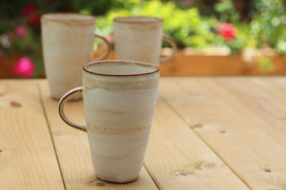 White Coffee Mug by FreshPottery