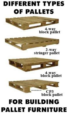 Different types of pallets for building pallet furniture
