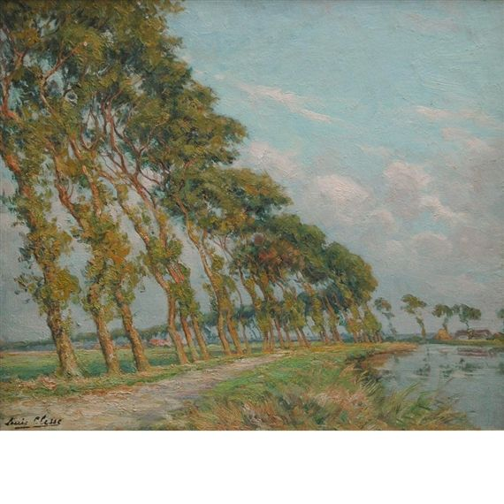 Artwork by Louis Clesse, Route Ensoleille, Made of Oil on masonite