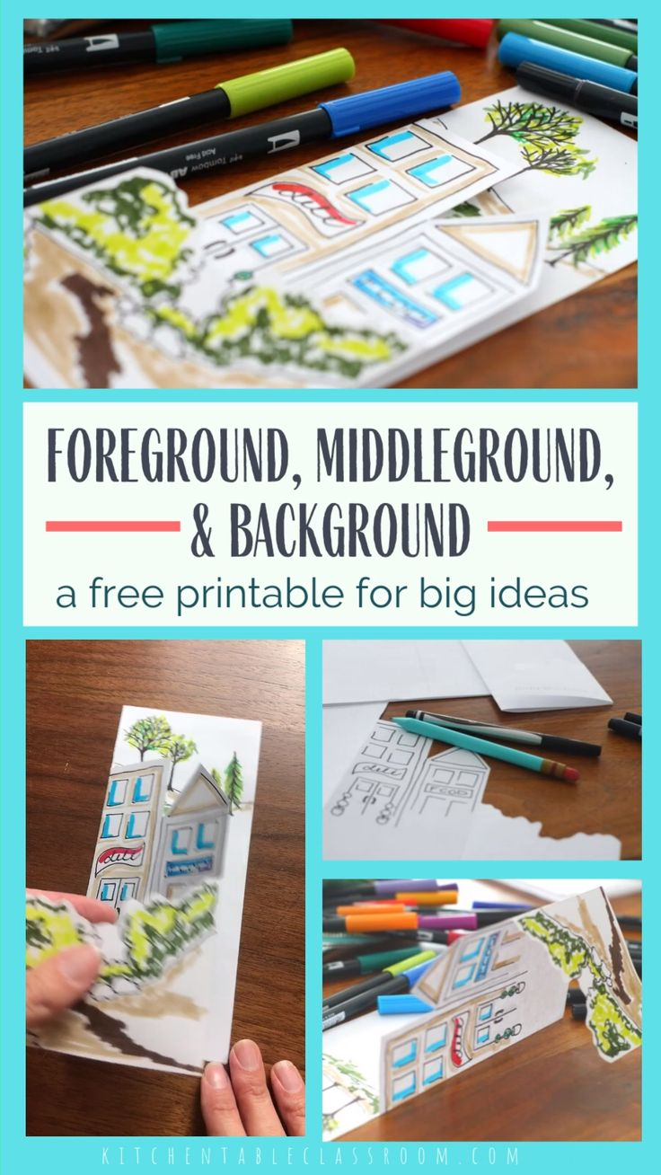 Foreground, middleground, and background printable