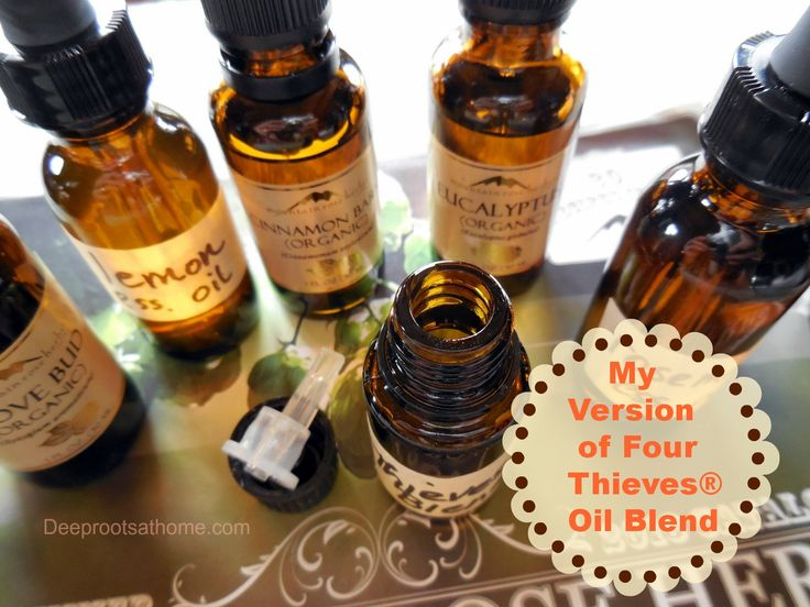 My Version of Four Thieves® Oil Blend,  making your own oil blend, essential oils
